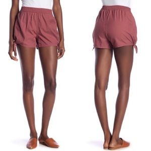 Madewell Autumn Berry Pull On Side Tie Shorts